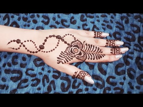 Flower Henna Design Simple Jewelry Inspired Mehendi Tattoo Easy