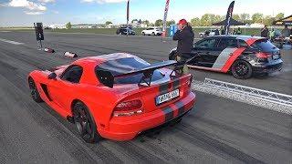 Dodge Viper SRT10 ACR vs Audi RS3 Sportback