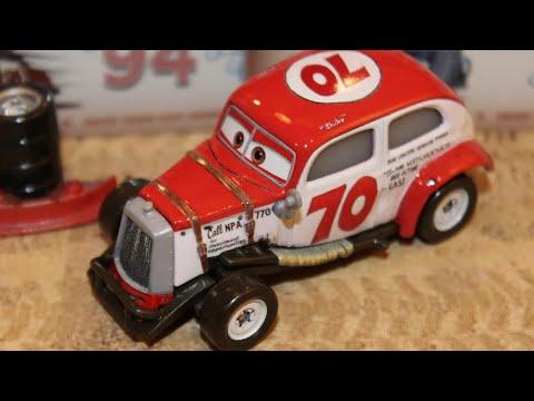 Mattel Disney Cars 3 Duke Coulters (Doc's Racing Days) Retro Piston Cup