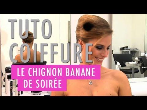 Un chignon banane de soirée - Tuto coiffure - YouTube