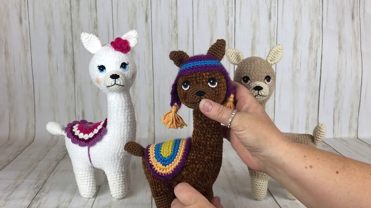 Huggable Crochet Alpaca (or Llama!) Toy - free pattern + tutorial | 720x1280