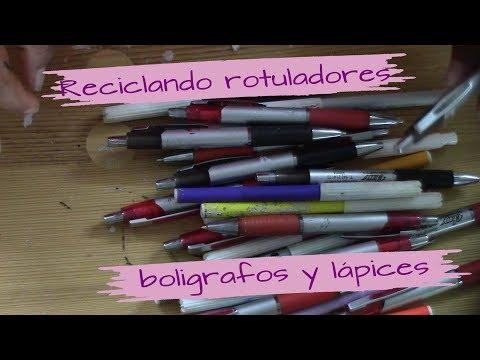 RECICLANDO ROTULADORES, BOLÍGRAFOS Y LÁPICES
