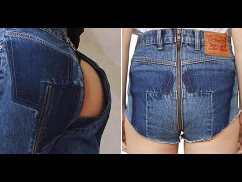 Could sexy women in unzipped jeans the question