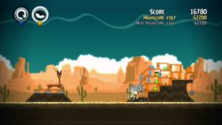 Angry birds Trilogy - 100% Mighty Eagle Score - Ham Em High Level 12-1 to 12-15