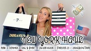 USA HAUL 2016 |En månad i New York | Sephora - PINK - Zadig m.m!