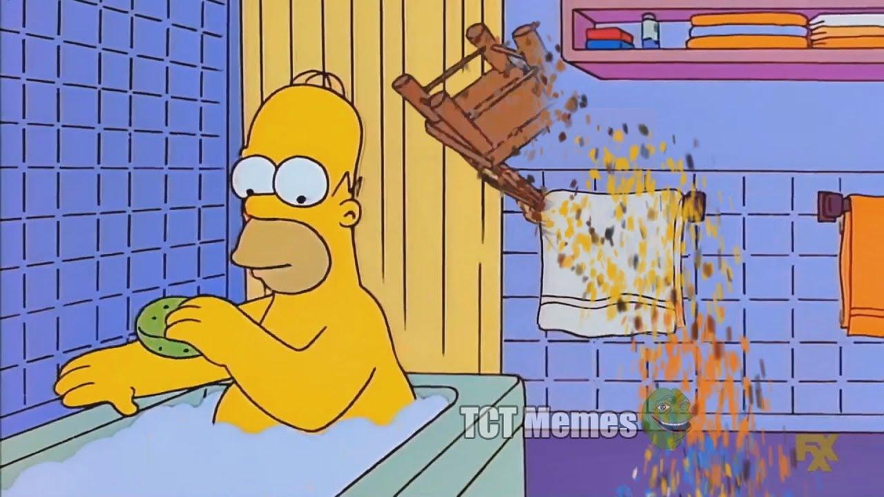 ESTA VEZ THANOS DESINTEGRA A BARTxdxd | Bart Golpea a Homero con una silla Meme