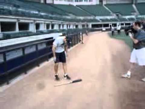 YouTube  Josh Womack does a few other bat tricks before a Long Beach Armada game