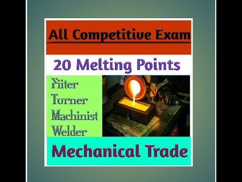 Melting point of Metal & Alloys || 20 Melting points||