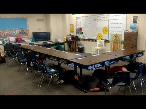 Earthquake drill 2017 - Wood Rose Academy & Preschool