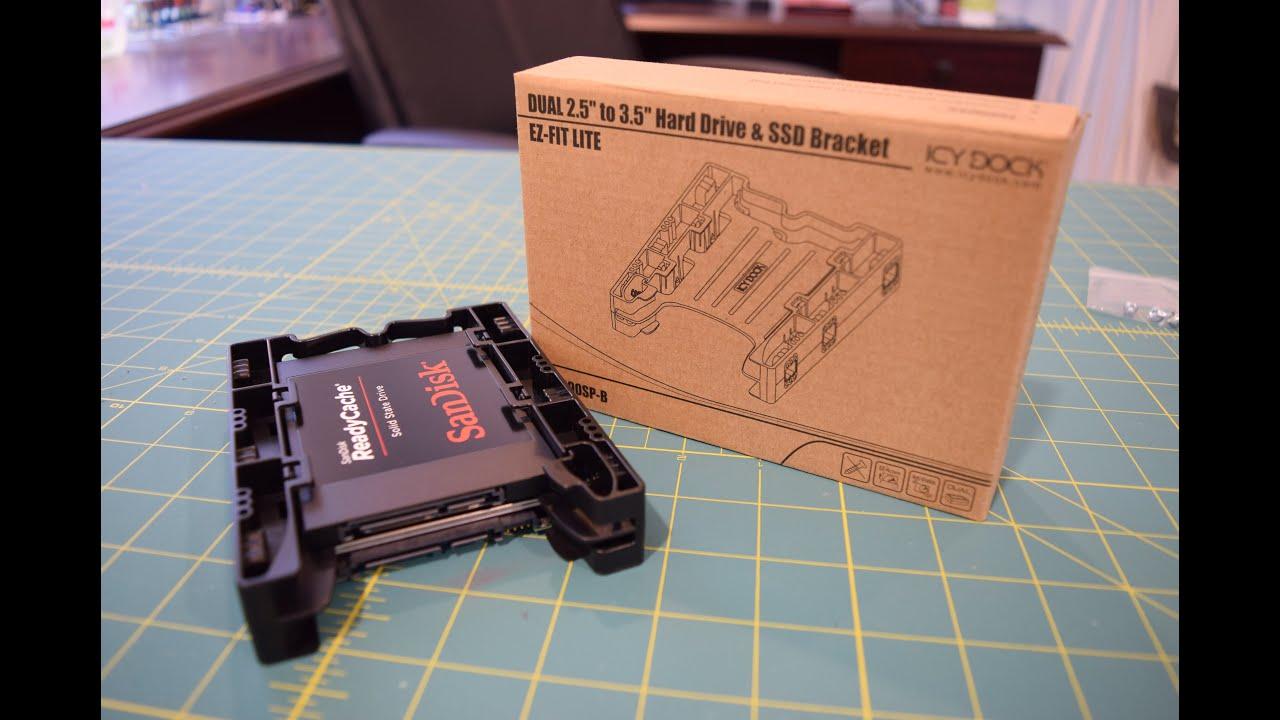 """2.5/"""" to 3.5/"""" Dual Hard Drive Bay Mounting Kit"""