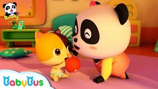 Si Panda Kecil Kiki & Miumiu Menjadi Pengasuh Anak | Lagu Anak Anak | Bahasa Indonesia | Babybus