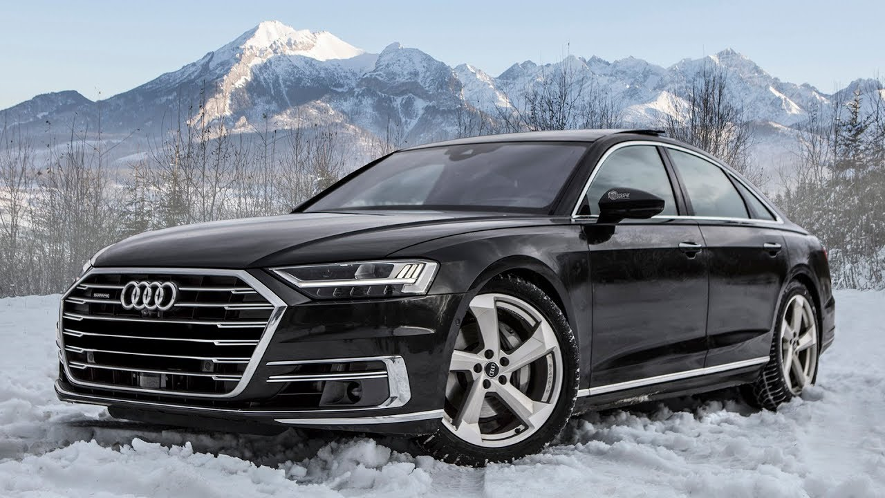 playing in snow the new 2018 19 audi a8 50 tdi quattro interior details youtube. Black Bedroom Furniture Sets. Home Design Ideas