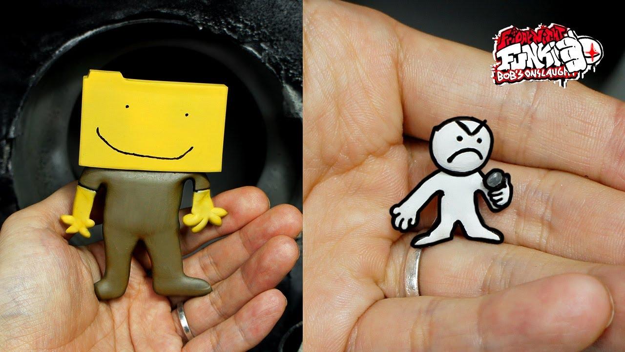 [FNF] Making Ron & little man Sculpture Timelapse [Bob's Onslaught]Friday Night Funkin' V.S. Bob 2.0