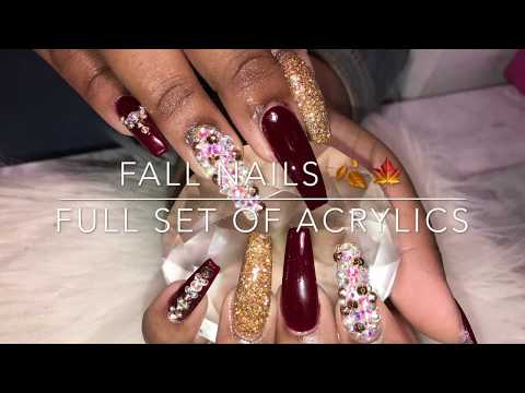 Acrylic Coffin Nails Tutorial