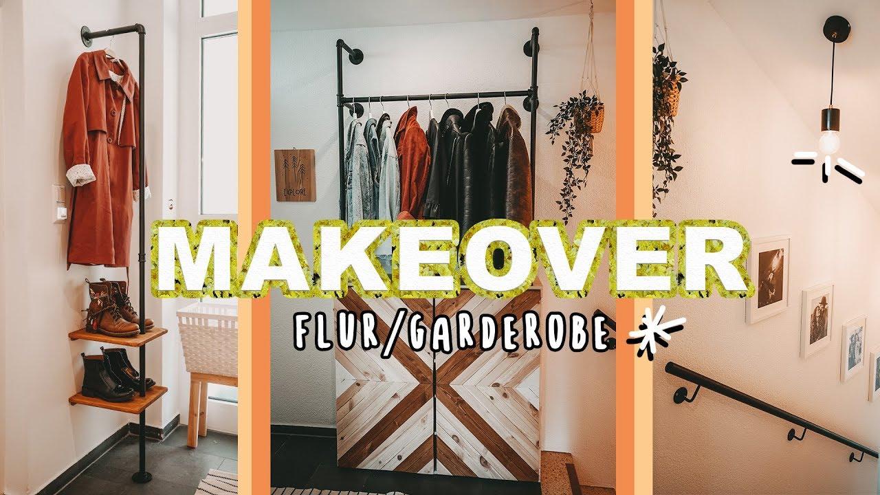 Flur Makeover Diy Industrial Garderobe Inklusive Ikea Hack