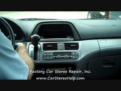 Honda Odyssey Stereo and CD Removal 20052010  YouTube