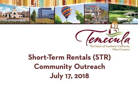 Short Term Rental Community Forums - July 17, 2018