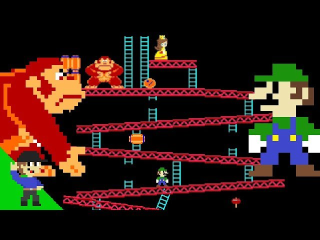 Luigi wins by doing absolutely nothing in Donkey Kong