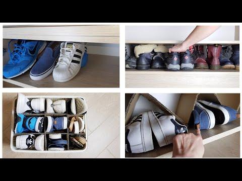 Как сложить обувь компактно