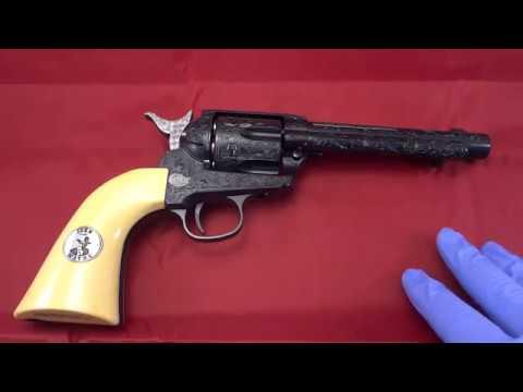 The Shootist Custom Engraved Duke CO2 Pistol