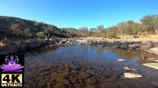 4K GOPRO NATURE RELAXATION - Australian outback stream and bird sounds