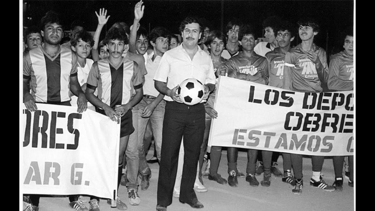 Image result for pablo escobar football
