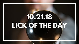 A Bluesy Sharp 9 Line to Target the Root   Jazz Trumpet Lick of the Day 10.21