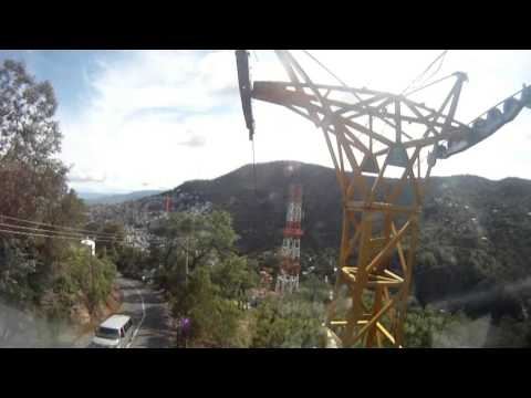 GoPro View - Riding the MonteTaxco Cable Car - Taxco, Mexico