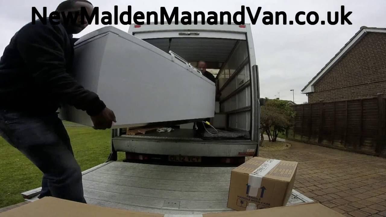 new malden man and van movers moving a fridge freezer youtube. Black Bedroom Furniture Sets. Home Design Ideas