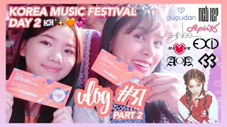 "Vlog #37 (Part 2): Koreans called me ""pabebe""?! + Korea Music Festival Day 2 | Eunice Santiago"