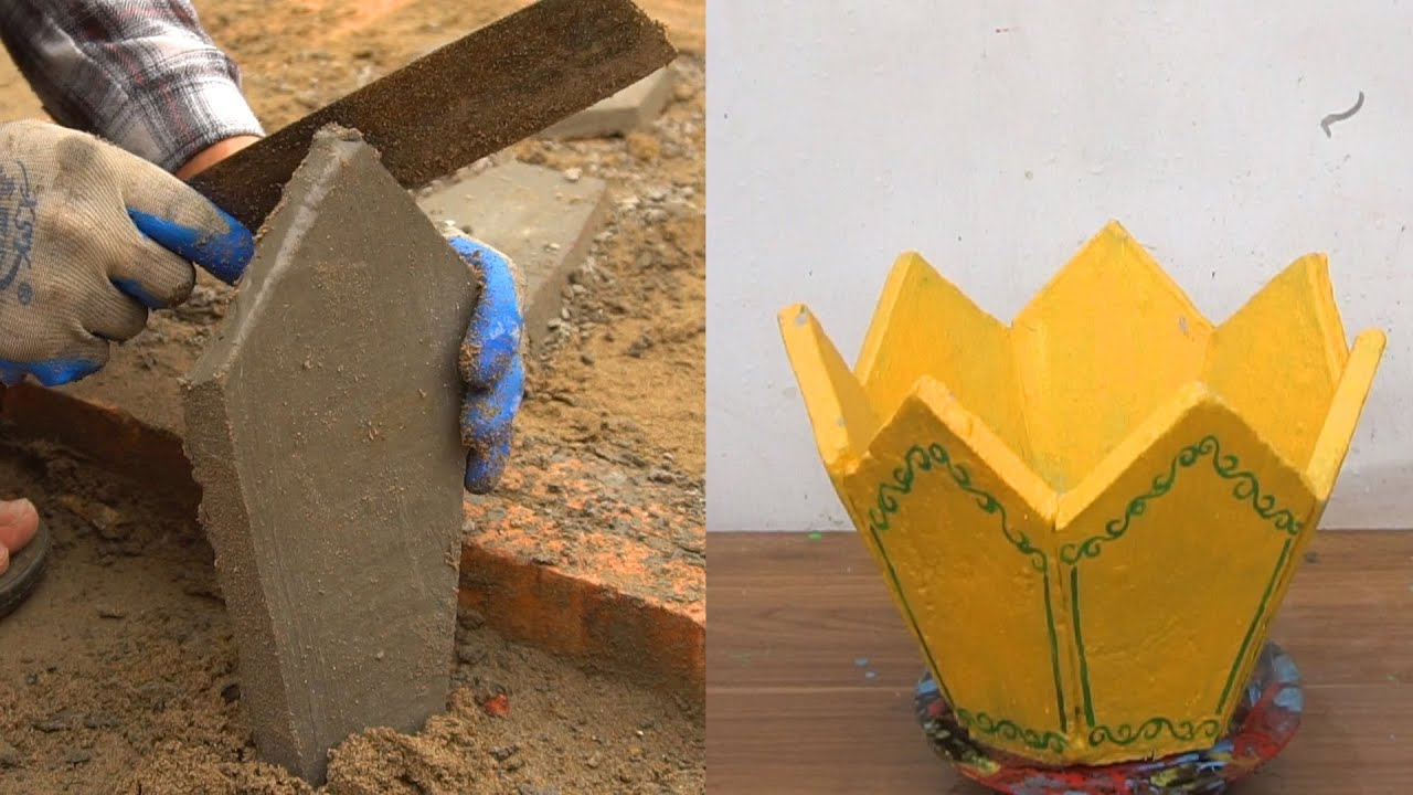 DIY extremely poisonous and beautiful cement pots