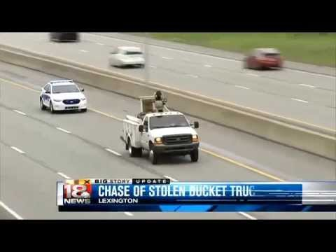 Woman Arrested After 40-Mile Chase Of Stolen Bucket Truck Along Kentucky Interstate