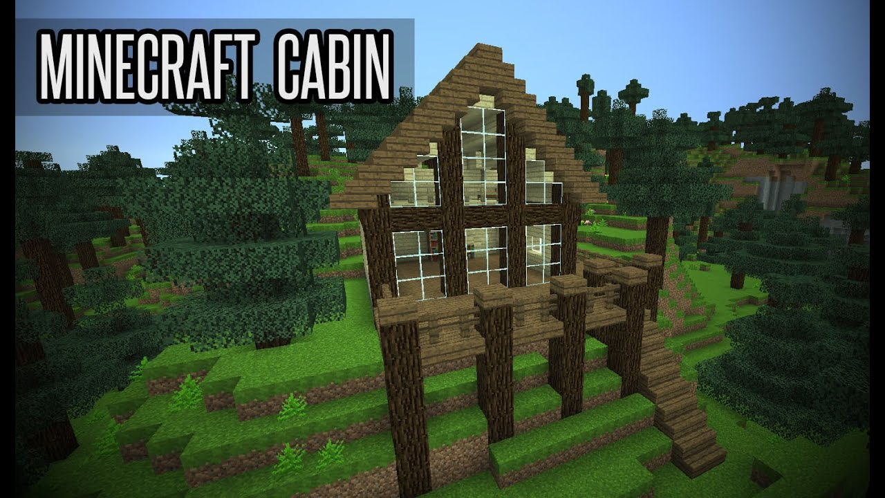 Image gallery minecraft cabin for How to build a cottage home