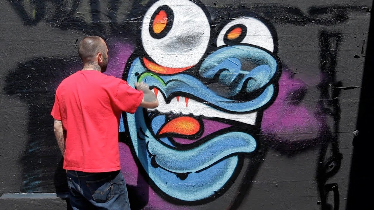 How to draw a monster graffiti art