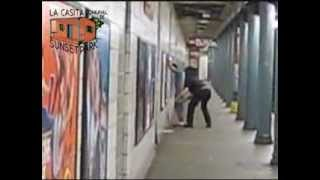 7-19-2012 COPWATCH Films NYPD Transit Cop Assaulting Youth Sunset Park