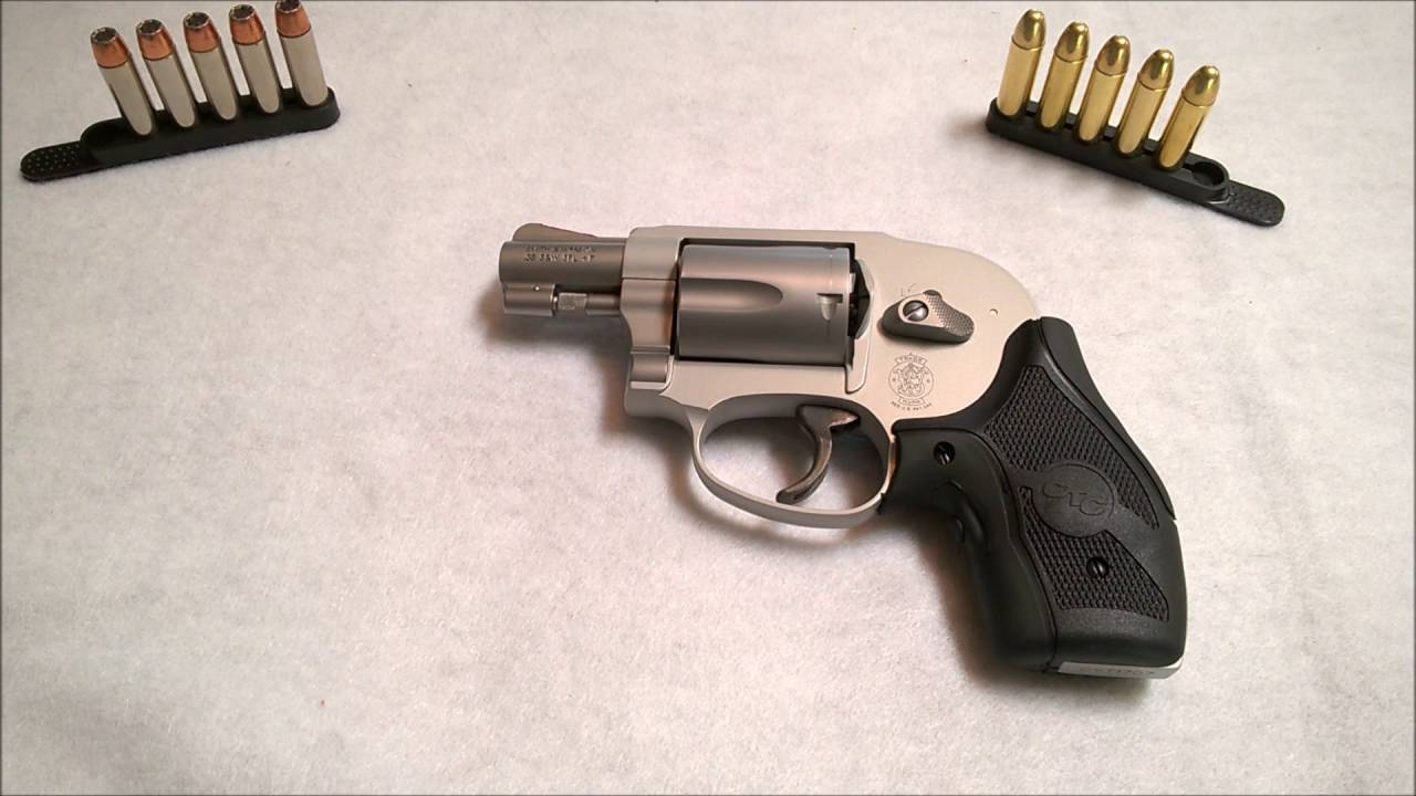 Smith & Wesson 638 J Frame Revolver, with Crimson Trace grips and ...