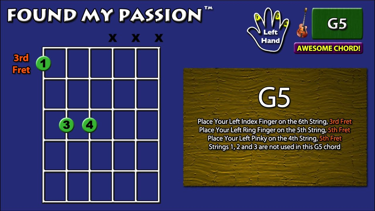 Awesome sounding guitar chord g5 3 5 5 x x x youtube awesome sounding guitar chord g5 3 5 5 x x x hexwebz Choice Image