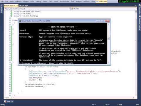 C# ASP.Net - Data Caching - Cemal Can AKGÜL