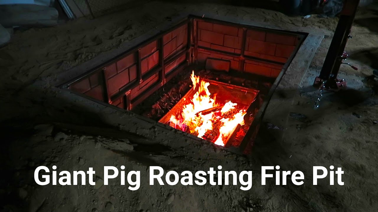 Giant Pig Roasting Fire Pit - YouTube