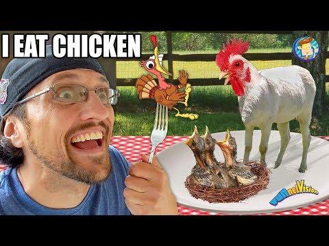 CHICKEN DONKEY!!  YUMMY!!!  (FV Family Oreo meets new Goat Vlog)