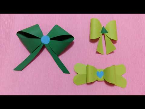 Simple Arts Paper Bow | 3 Way Easy to make Paper Bow | DIY Paper Kawaii