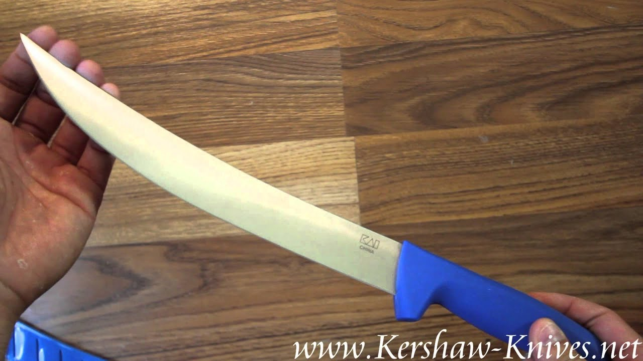kershaw pro grade 10 inch curved breaking knife 1280 video demo