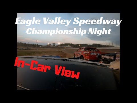 Season Championship Race / Eagle Valley Speedway / 8/25/19 / Street Stocks / In-Car View
