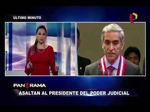 Asaltan en chiclayo al Presidente del poder judicial Duverli Rodríguez. PANORAMA.