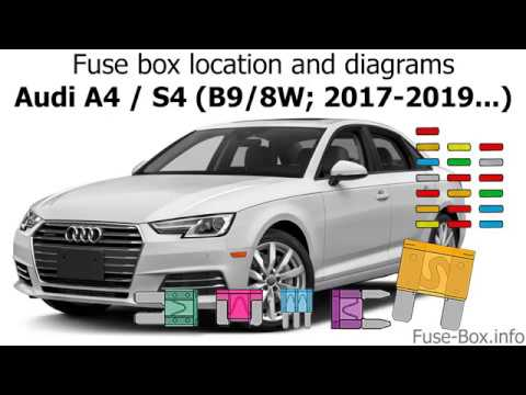 Fuse box location and diagrams: Audi A4 / S4 (B9/8W; 2017-2019..) - YouTubeYouTube