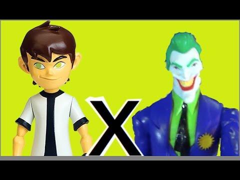 4cd49fc0681 Ben 10 X Coringa Joker DC Comics Papai RG Filho Praça Cachorros Brinquedos  Bonecos Toys Kids - YouTube