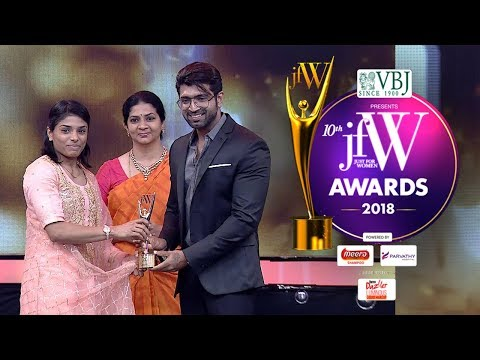 Actor Arun Vijay Whistle Podu moment for Gymnast Aruna Reddy | JFW Awards 2018