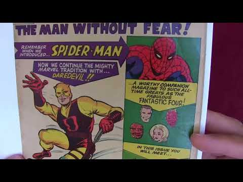 Reading Comics: Daredevil #1, Origin/1st Appearance, Stan Lee, Bill Everett, Jack Kirby, 1964 [ASMR]