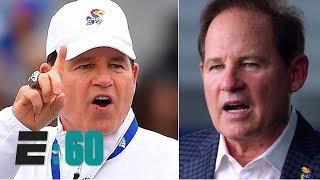 Tom rinaldi profiles kansas jayhawks football coach les miles, who went from the lsu tigers to lawrence -- with a brief foray into acting in between and i...