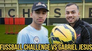 EXTREME FUSSBALL CHALLENGE VS GABRIEL JESUS JR!!